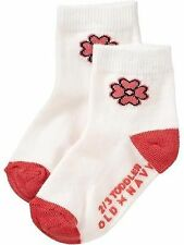 Old Navy Infant/Baby Socks - Tangerine Flower Design (GBSK-31) - Size: 0-6 mos