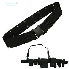 New Police EMT Security Tactical Combat Gear Black Utility Nylon Duty Belt SWAT