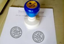 Pre Inked Custom made Personalized Address Rubber Stamp