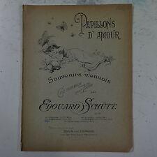 Salon Piano Papillons D `amour Edouard Schutt Op. 59, páginas