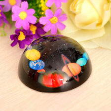 80mm Solar System Crystal Half Sphere Ball Paperweight MAGNIFYING XMAS Gift