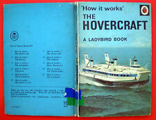The Hovercraft Ladybird vintage book history How It Works engineering sea 15p