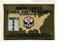 Morale Patch - ZOMBIE HUNTING PERMIT - USA - MULTICAM pattern - Custom