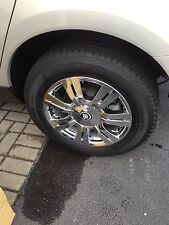 "Cadillac SRX CHROME 18"" WHEEL CLADS. FITS OEM WHEELS! RIMS Cadillac Center Cap"
