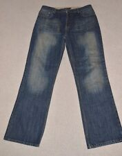"Mens Jeff Banks 24:7 Dark Blue Indigo Jeans W38 L34 38"" Waist"