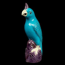China 20. Jh. Papagei -A Chinese Turquoise Glazed Figure Parrot - Cinese Chinois