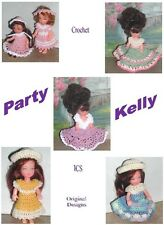 CROCHET FASHION DOLL PATTERN-ICS DESIGNS-617 PARTY KELLY'S
