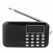 Pocket Digital FM AM Radio MP3 Player Multimedia Speaker AUX Audio Input Black