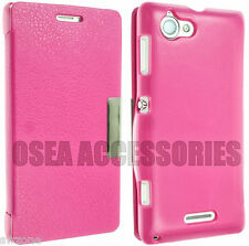 FOR SONY XPERIA L S36H C2104 C2105 LEATHER CASE COVER POUCH FLIP WALLET BACK S36