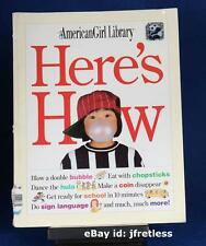 1996 American Girl Doll Book Library Here's How Instructions for Life Free Ship