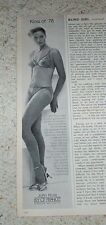 1978 old ad - Lily of France SEXY Girl sheer panties bra lingerie John Kloss AD