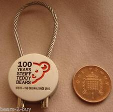 Steiff Original 100 Year Teddy Bear Metal  Key Ring Brand New Rare