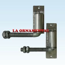 "ALUMINUM 5/8"" LARGE GARDEN GATE HINGE J-BOLT SMALL DRIVEWAY GATE WOOD ADJUSTABLE"