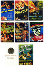 UNIVERSAL MONSTERS - MOVIE POSTER FRIDGE MAGNET SET (dracula black lagoon mondo)