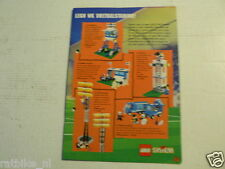 LEGO BROCHURE FLYER CATALOG TOYS 1998 WK VOETBAL STADION & STICKERS DUTCH 16 034