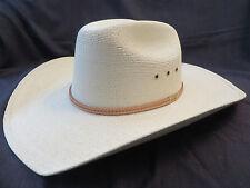 RESISTOL GEORGE STRAIT COWBOY WESTERN STRAW HAT Size 7 5/8 BEST ALL AROUND