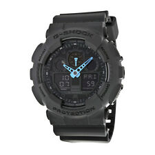 Casio G Shock Black and Blue Dial Resin Mens Watch GA100C-8ACR