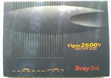 DRAYTEK Vigor2600V ADSL + VoIP Router & PSU - Unable to test but powers up OK  V