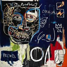 "Jean Michel Basquiat ""Pecho oreja"" HD print on canvas huge wall picture 24x24"""
