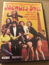 JACQUES BREL IS ALIVE AND WELL AND LIVING IN PARIS R1 DVD KINO VIDEO