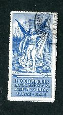 Vintage Poster Stamp Label JEUX OLYMPIQUES 1906 Athens Olympics