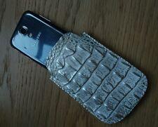 Hecho a mano Estuche De Cuero Genuino Real Impresión Cocodrilo Para Samsung Galaxy S4 Mini