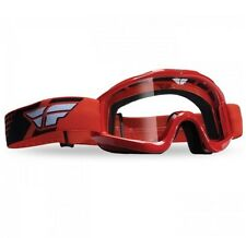 Fly Racing NEW Mx Focus Red Adult Clear Lens BMX Motocross Dirt Bike Goggles