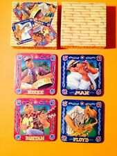 JOE CAMEL JOE'S BEACH CLUB COASTER SET, ORIGINAL VINTAGE 1993, WITH LIGHTER