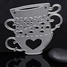 78*90mm Kaffee Tasse Stencil Cutting Dies Scrapbook Embossing Schablone Form