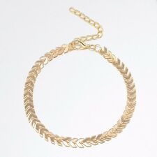Fashion Boho Gold Arrow Anklets Bracelet Bare Foot Chain Beach Jewelry UK Seller