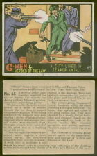 (12355) 1936 R60-2 Gum Inc G-Men and Heroes of the Law 65 City Lived in Terror-V