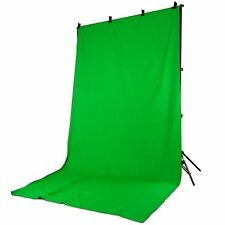 Set Support de Fond Trépied Studio Photo Video PRO 901 + Fond Tissu Vert 2,8x4mt
