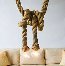 Large Rope Vintage style Industrial Edison ceiling Lamp light special Chandelier