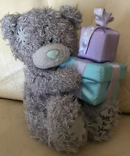 Me To You Small 6 Inch Grey Tatty Blue Nose Bear Soft / Plush Toy Holding Gifts