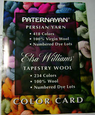 Paternayan Elsa Williams Yarn Color Card Chart Tapestry Wool Crewel Needlepoint