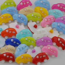 100pcs Plastic Button car backhole DIY buttons sewing/appliques/craft mix PT87