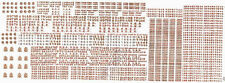 HMRS Transfers No.18P- 1 x Sheet Pressfix NE Loco/Coach - 00 Gauge - 1st Class