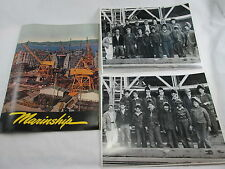 1944 MARINSHIP THE FIRST TWO YEARS Welding Crew Staff Photos + Publication VTG