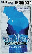 A Mallory Novel: Nice Weekend for a Murder 0 by Max Allan Collins (2012, CD,...