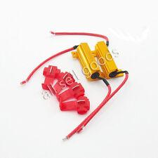 2 PCS 6ohm 50W LED Load Resistors For Fix Hyper Flash Turn Signal Blinker ALL