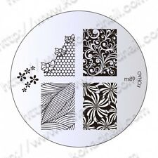 Konad Piastra immagine m89 DISCO STAMPING NAIL ART UK