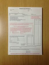 USED CAR/VEHICLE INVOICE PAD / TRADE SALE X 6 PADS