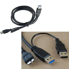 Dual USB 3.0 A Male with USB power to Micro USB 3.0 Y cable for Mobile Hard disk