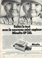 Publicité 1990  nouveau mini-copieur Minolta EP 310