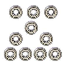 10 pcs 606 ZZ Metal Miniature Deep Groove Shielded Ball Bearings 6x17x6 mm