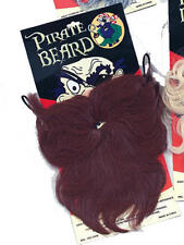 Large Brown Wavy Beard Pirate Captain Sailor Party Fancy Dress
