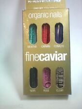 Organic Nails Arthink FINE CAVIAR Beads Caja con 6 Pack Set.  Free Shipping