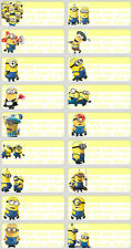 60 Large Minions pictures personalised name label