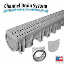 Source 1 Drainage Trench & Driveway Channel Drain Kit With Grate