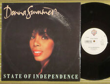 """DONNA SUMMER, STATE OF INDEPENDENCE, 12"""" SINGLE 1982 UK EX-E/X-"""